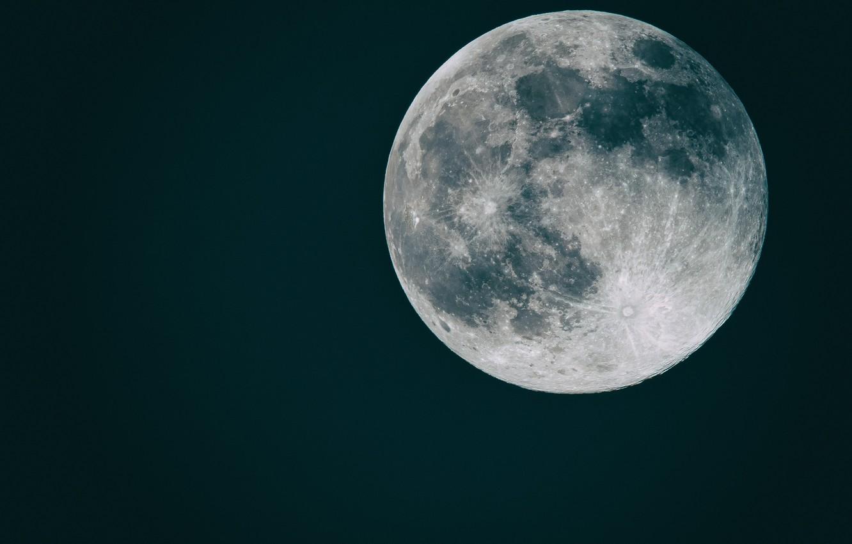 Фото обои космос, фон, плоская луна