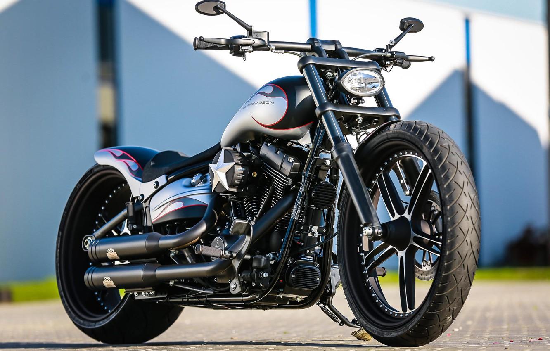 Фото обои Harley-Davidson, Softail, Thunderbike, Custom bike