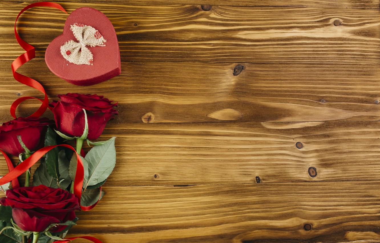 Фото обои любовь, сердце, розы, love, heart, romantic, valentine, roses, gift box