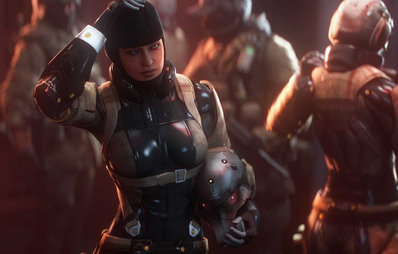 Фото обои грудь, девушка, костюм, Guns of the Patriots, Metal Gear Solid 4, mgs, FROGS, Haven Troopers, …