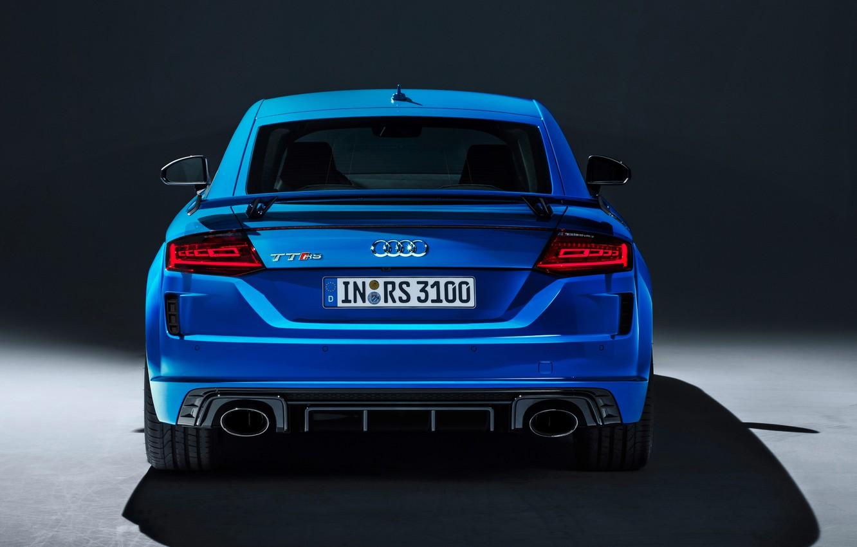 Фото обои Audi, вид сзади, Coupe, TT RS, 2019