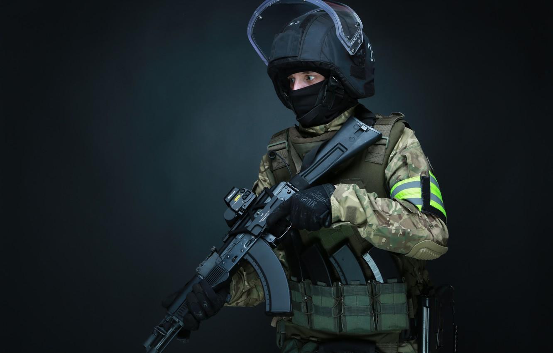 Фото обои оружие, Армия, Автомат, Дефендер, Спецназ, ЦСН, ФСБ, Архангел, РОСН, АК103, ЛШЗ-2ДТМ, Helikon-Tex, СК Архангел