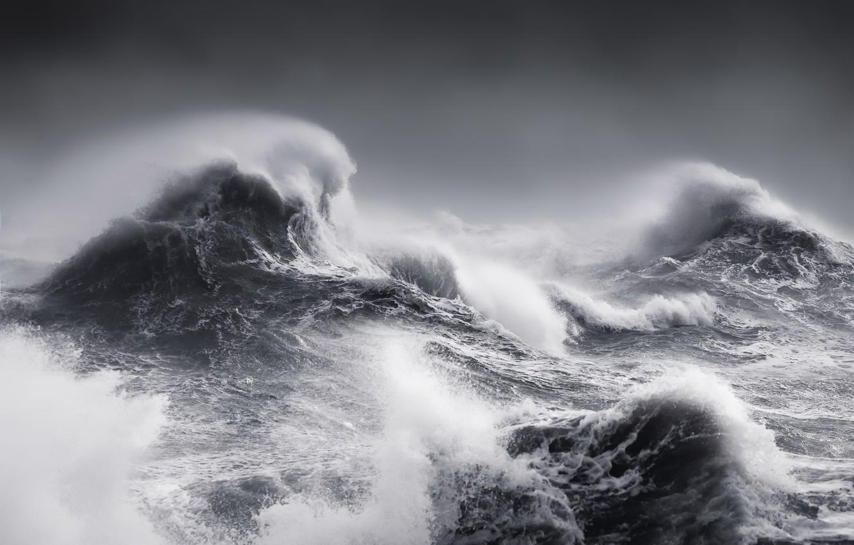 Фото обои море, волны, шторм