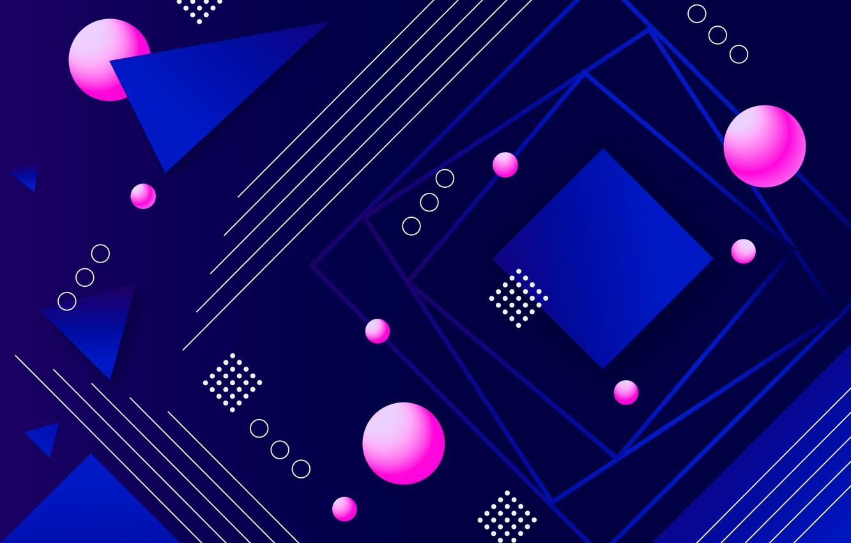 Фото обои линии, синий, абстракция, фон, розовый, геометрия, background