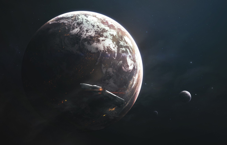Обои спутник, планеты, катастрофа. Космос foto 7
