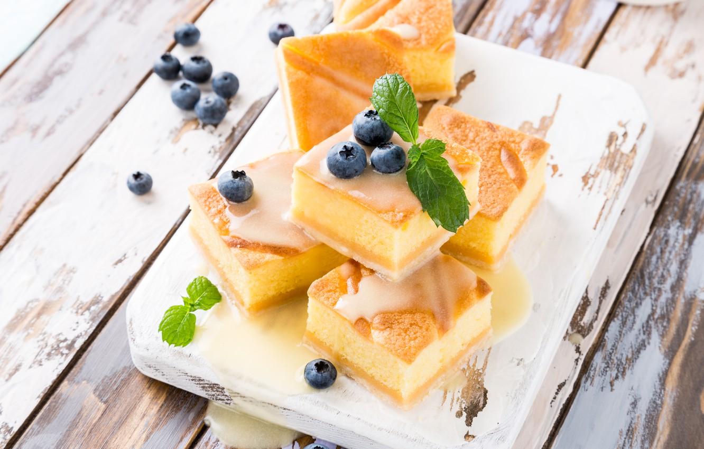 Фото обои ягоды, черника, пирог, десерт, Iryna Melnyk