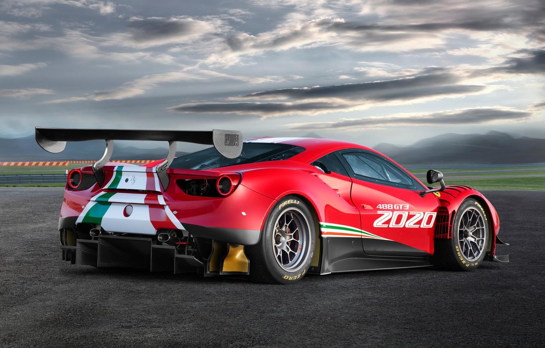 Фото обои Ferrari, спорткар, Evo, GT3, 488, Ferrari 488