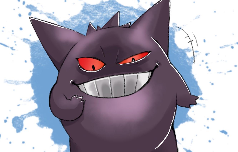 Фото обои улыбка, покемон, Pokemon, Генгар