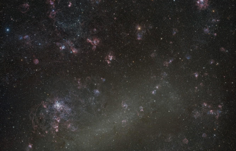 Фото обои космос, БМО, LMC, Большое Магелланово Облако, карликовая галактика, Large Magellanic Cloud