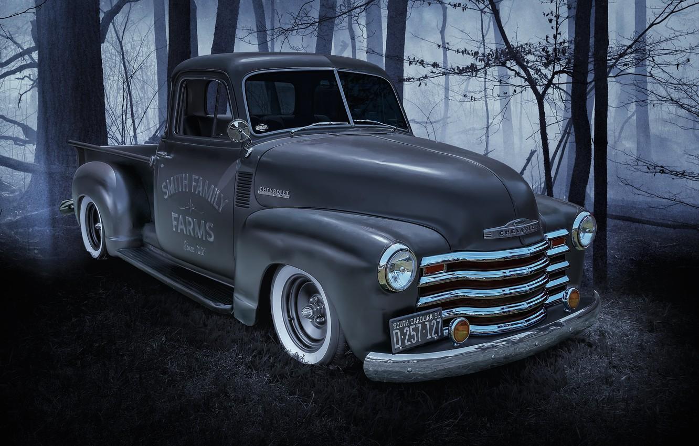 Фото обои Chevrolet, Машина, пикап, передок