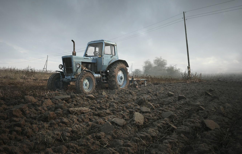 Фото обои трактор, Беларусь, беларус