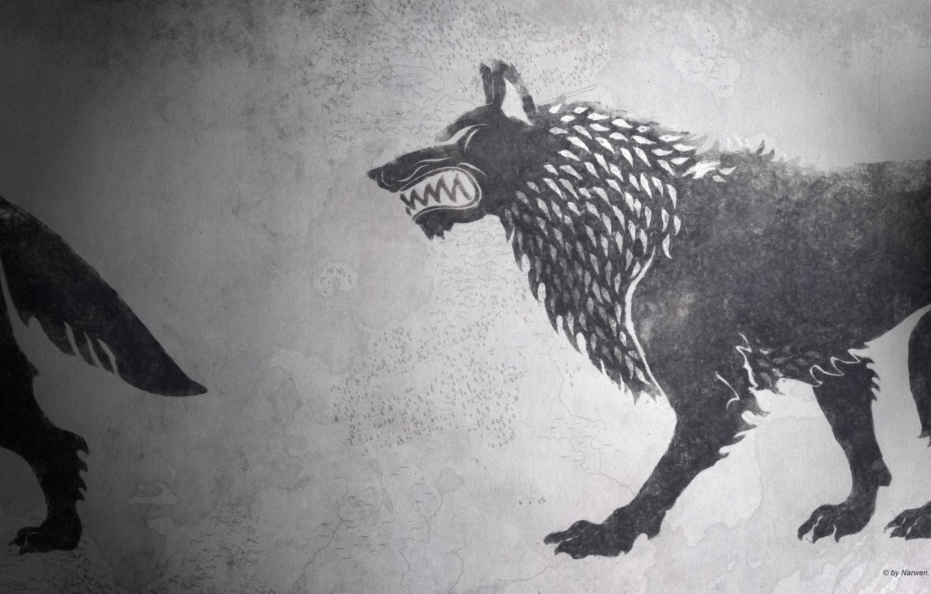 Фото обои game of thrones, a song of ice and fire, fan art, House Stark, HBO, darewolf