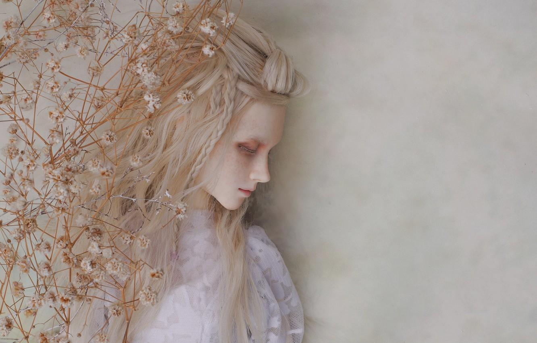 Фото обои грусть, девушка, настроение, кукла, блондинка