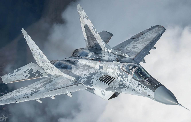 Фото обои Облака, Истребитель, Фонарь, Миг-29, Пилот, Кокпит, ВВС Словакии, ИЛС, ОЛС, HESJA Air-Art Photography