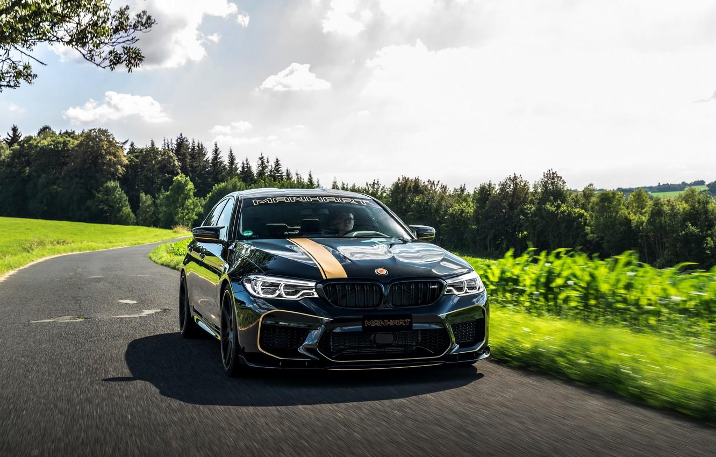 Фото обои асфальт, BMW, седан, 2018, Biturbo, Manhart, M5, V8, F90, 4.4 л., 723 л.с., MH5 700