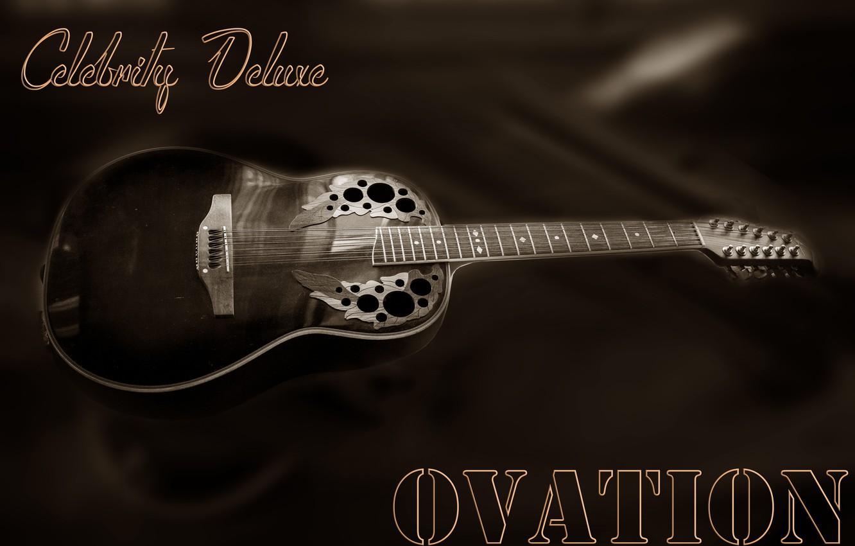 Фото обои guitar, Tajikistan, ballad, Ovation, Kide & JC, Dushanbe, Kide FotoArt, Country music, Celebrity Deluxe, 12-string