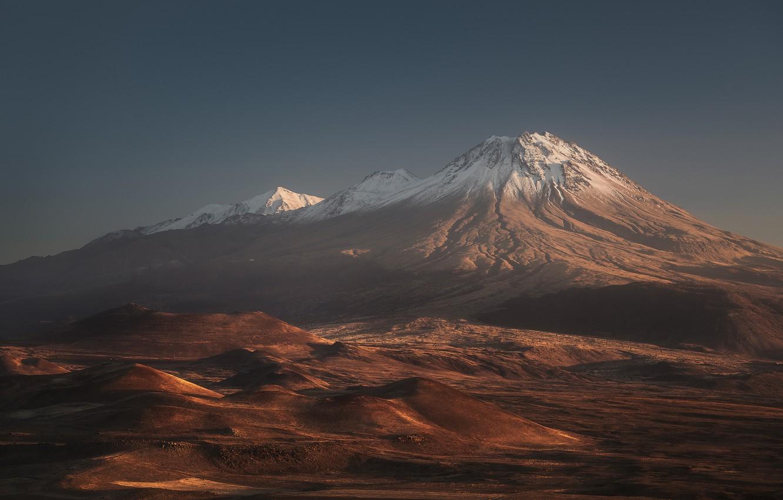 Фото обои горы, вулкан, mountains, volcano, Антон Ростовский