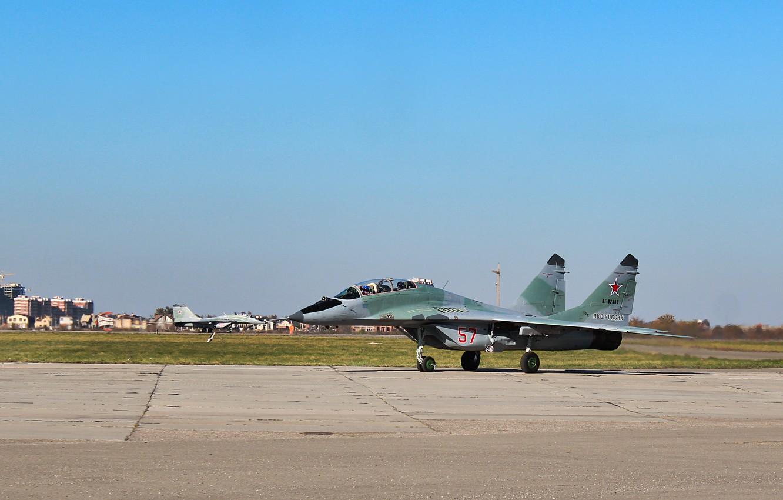 Фото обои Самолет, МиГ-29УБ, инстребитель