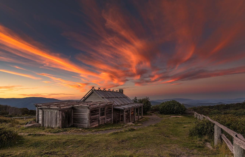 Фото обои закат, вечер, Австралия, Wabonga