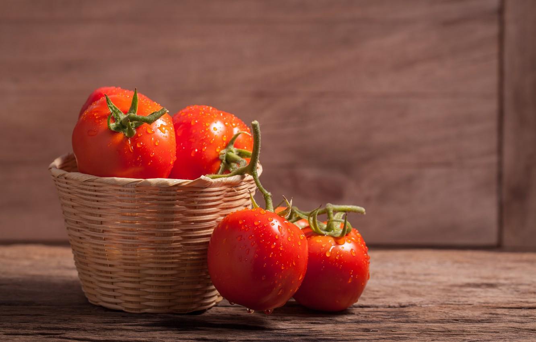 Обои makro, помидоры, еда, овощи, капли, стол. Еда foto 10
