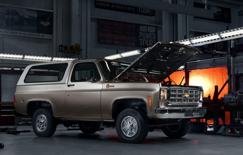 Фото обои Chevrolet, капот, 2020, K5 Blazer-E Concept