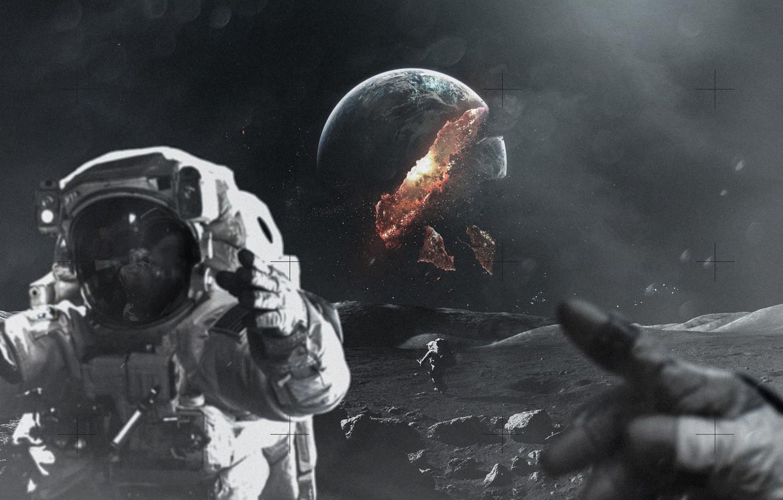 Обои астронавт, земля. Фантастика foto 18