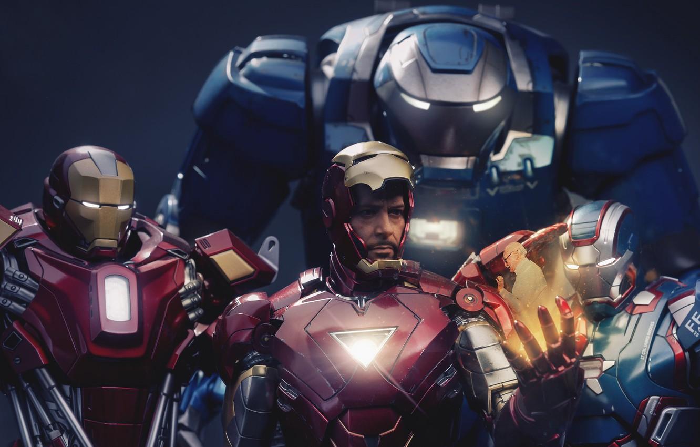 Фото обои Iron Man, Marvel, RED, Tony Stark, Film