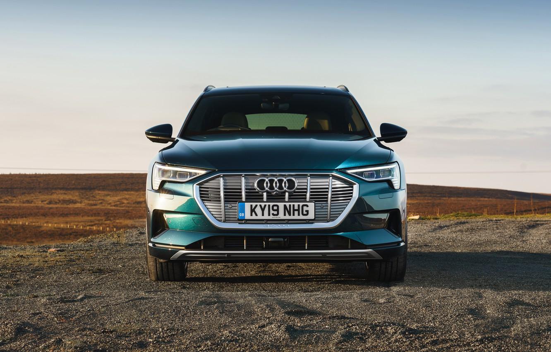 Фото обои Audi, кроссовер, E-Tron, 2019, UK version, электрокроссовер