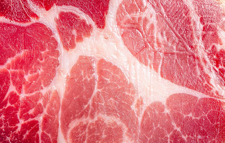 Фото обои макро, текстура, мясо, свинина