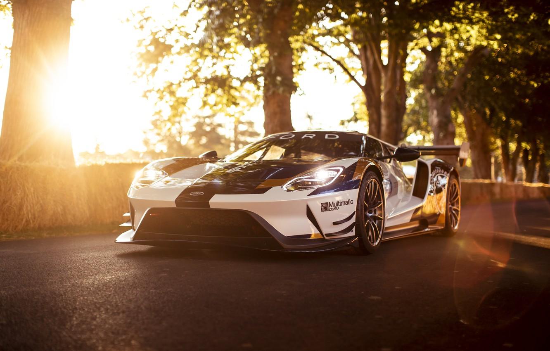 Фото обои машина, солнце, Ford, Ford GT, спорткар, Mk II