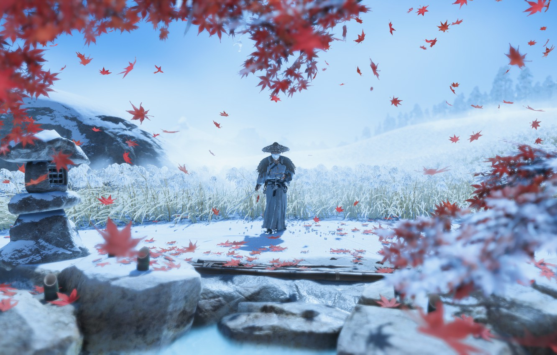 Фото обои Games, Samurai, ghost of tsushima, tsushima, Cамурай, Samurai Games, игры про самураев