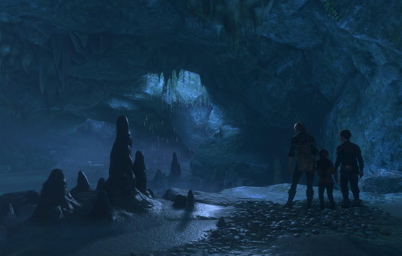 Фото обои пещера, a plague tale: innocence, подземные воды