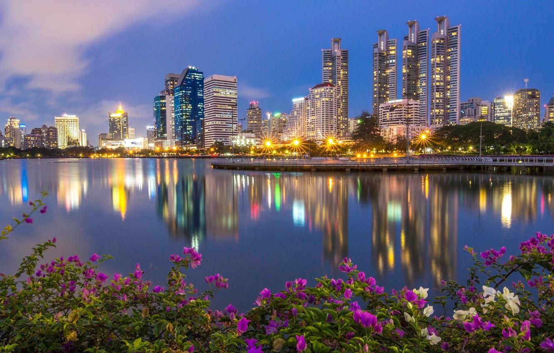 Обои реклама, здания, экраны, бангкок, дороги, тайланд. Города foto 19