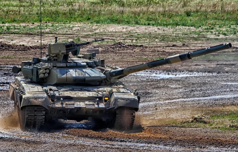 Фото обои танк, полигон, Т-90С, бронетехника России, T-90S