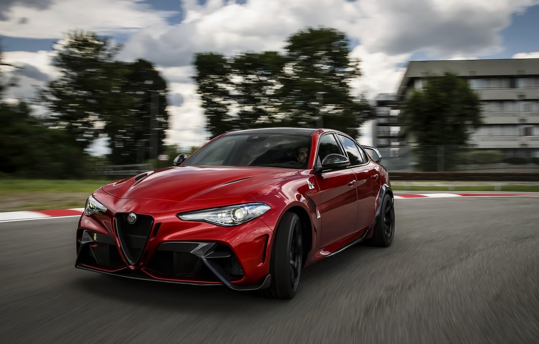 Фото обои Alfa Romeo, на треке, Giulia, GTAm, 2020, Gran Turismo Alleggerita modificata