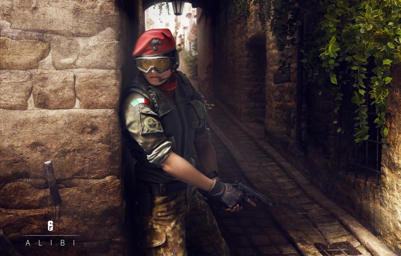 Фото обои rainbow six siege, gis, alibi