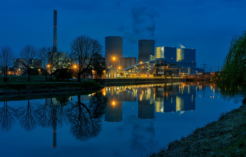 Обои ночь, канал, дома, Luneburgo, фонари, германия, saxony. Города foto 12