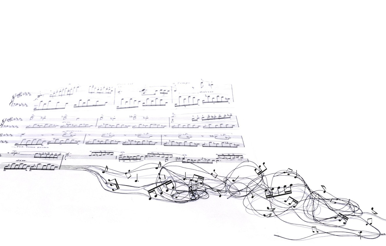 Фото обои ноты, музыка, фон