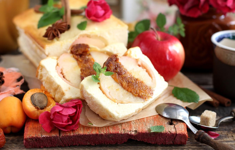 Обои пирог, выпечка, абрикосы. Еда foto 15