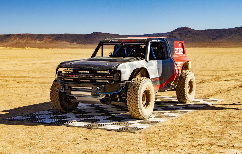 Фото обои Ford, 2019, рамный, Bronco R Race Prototype