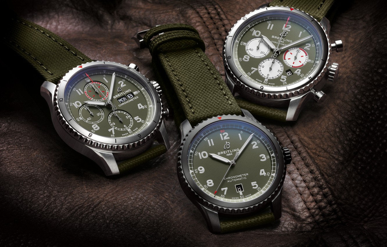 Фото обои Breitling, Swiss Luxury Watches, швейцарские наручные часы класса люкс, analog watch, Брайтлинг, Aviator 8 B01 …