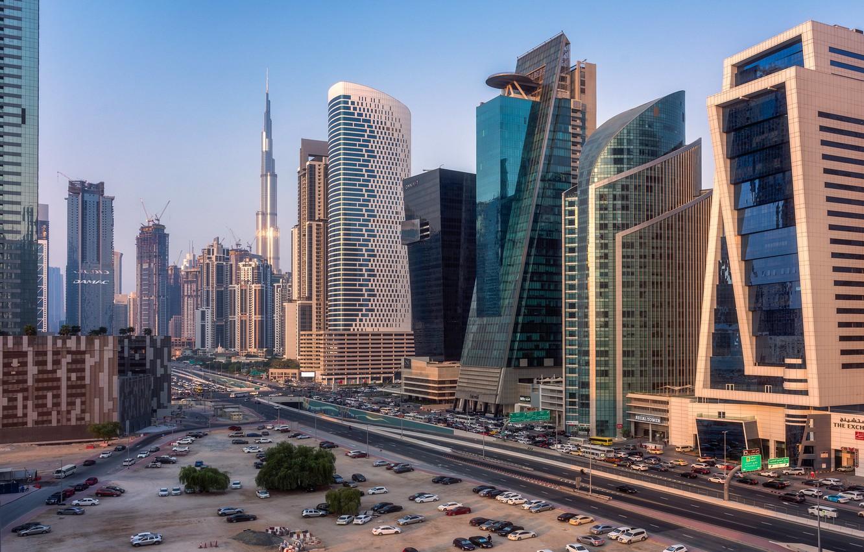 Фото обои Дубай, небоскрёбы, ОАЭ