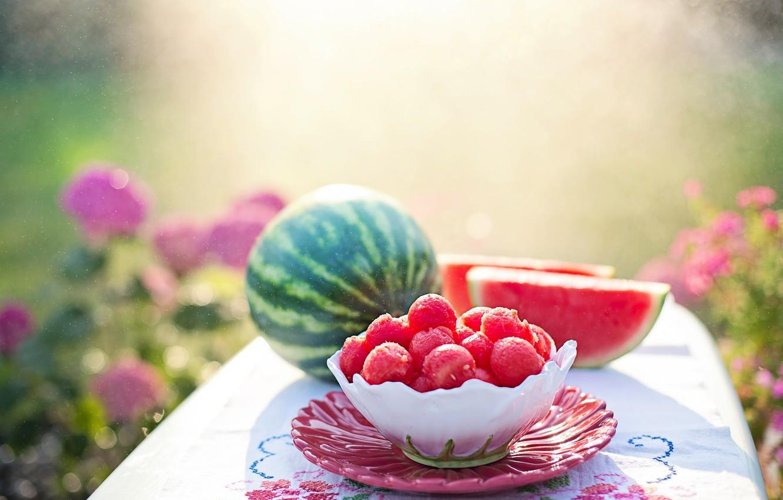 Фото обои лето, арбуз, фрукты, питание, дыня