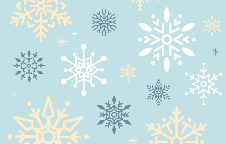Фото обои снежинки, фон, голубой, vector, текстура, design, background