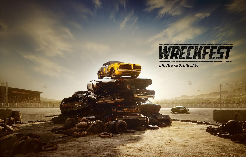 Фото обои машины, металл, арт, свалка, Wreckfest