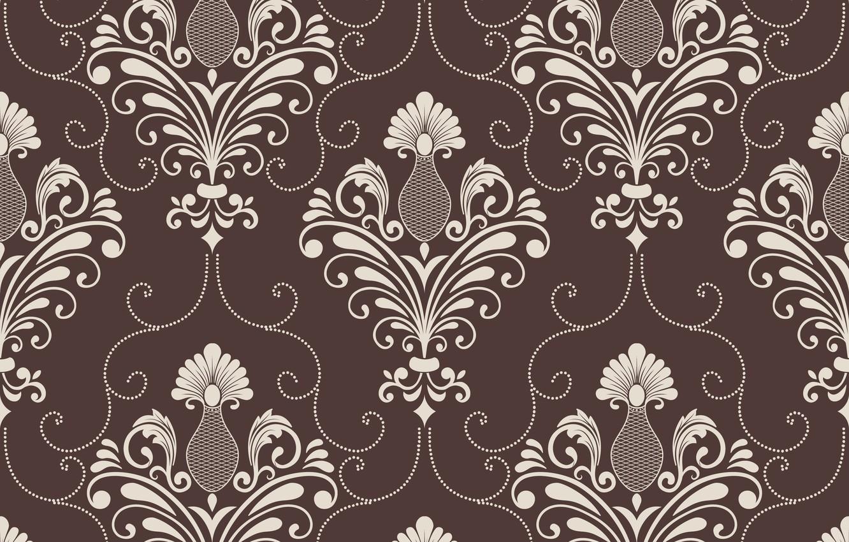 Фото обои фон, коричневый, орнамент, style, винтаж, victorian
