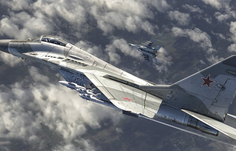 Обои Миг-29а, многоцелевой, истребитель, fulcrum. Авиация foto 6