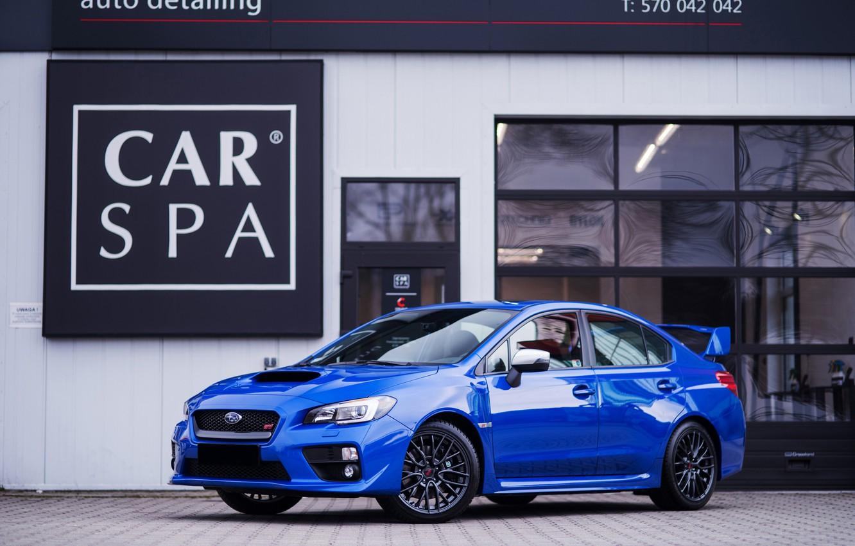Фото обои Subaru, WRX, STI, BLUE