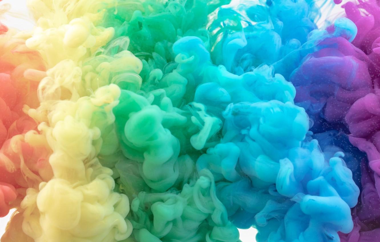 Фото обои краски, дым, газ, объем