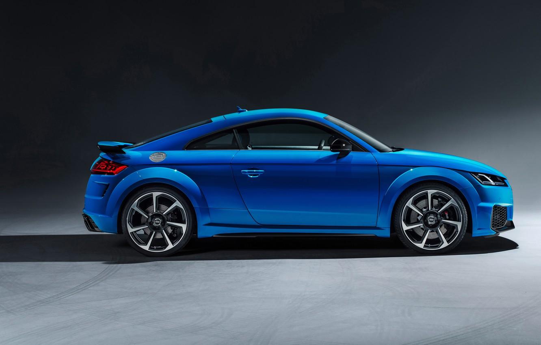 Фото обои Audi, вид сбоку, Coupe, TT RS, 2019